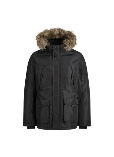 Jack & Jones Parka Hollow 12178864-Blk Siyah